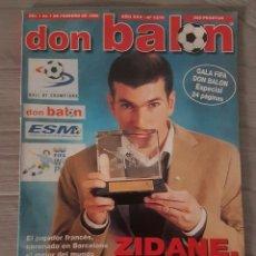 Coleccionismo deportivo: REVISTA DON BALÓN 1216 FEBRERO 1999 ZIDANE. Lote 132745398