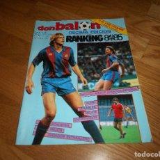 Coleccionismo deportivo: DON BALON Nº 504 PORTADA SCHUSTER COLOR Y POSTER ASCENSO LAS PALMAS - PARTIDO BRASIL VS ARGENTINA. Lote 132753598