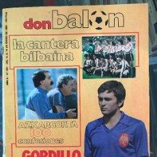 Coleccionismo deportivo: DON BALON Nº 431 1984 REPORTAJE COLOR MARADONA BARCELONA INDEPENDIENTE AVELLANEDA JOSE MALAGA. Lote 132765014