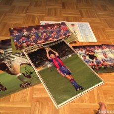 Coleccionismo deportivo: LOTE POSTERS DE FUTBOL Y FIRMAS. Lote 133356197