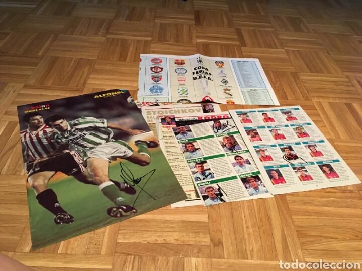 Coleccionismo deportivo: Lote posters de futbol y firmas - Foto 2 - 133356197
