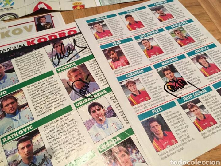 Coleccionismo deportivo: Lote posters de futbol y firmas - Foto 3 - 133356197