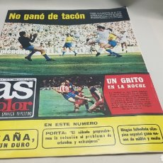 Coleccionismo deportivo: AS COLOR, NO GANO DE TACON, N°229, OCTUBRE 1975 , POSTER DEL R.C.D.ESPAÑOL EN SUS BODAS DE PLATINO. Lote 133575035