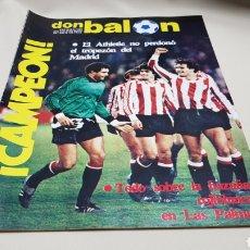 Coleccionismo deportivo: REVISTA DON BALON, EL ATHLETIC BILBAO , CAMPEON, N°395 MAYO 1983,. Lote 133614525