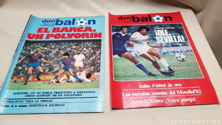 RAREZA, DOS REVISTAS DON BALON CON EL MISMO NUMERO 362, SEPTIEMBRE 1982 (Coleccionismo Deportivo - Revistas y Periódicos - Don Balón)