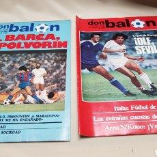 Coleccionismo deportivo: RAREZA, DOS REVISTAS DON BALON CON EL MISMO NUMERO 362, SEPTIEMBRE 1982. Lote 133615615