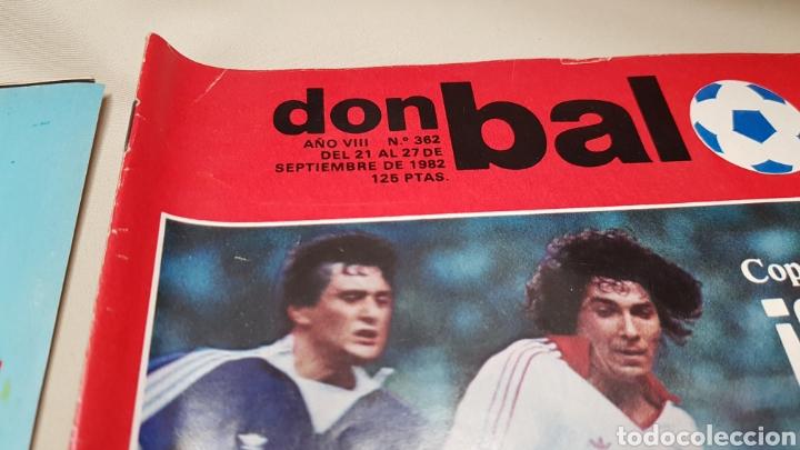 Coleccionismo deportivo: Rareza, dos revistas don balon con el mismo numero 362, septiembre 1982 - Foto 2 - 133615615