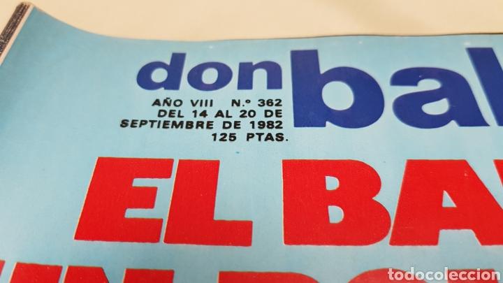 Coleccionismo deportivo: Rareza, dos revistas don balon con el mismo numero 362, septiembre 1982 - Foto 3 - 133615615