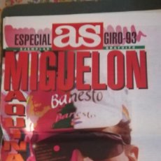 Coleccionismo deportivo: AS ESPECIAL GIRO 93 MIGUELON MAQUINA TOTAL INDURAIN. Lote 133629342