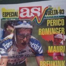 Coleccionismo deportivo: AS ESPECIAL VUELTA CICLISTA 93 PERICO ROMINGER MAURI BREUKINK. Lote 133629534