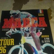 Coleccionismo deportivo: GUIA MARCA TOUR DE FRANCIA 1996. 40 PAGINAS. PERFECTO ESTADO. Lote 133661590