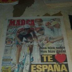 Coleccionismo deportivo: GRAN COLECCION DE PORTADAS DE MARCA CON MIGUEL INDURAIN + HOJAS DE CICLISMO. PERFECTO ESTADO.. Lote 133663742