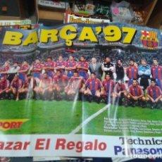 Coleccionismo deportivo: MEGA POSTER SPORT LIGA 96 - 97 ( BARÇA ´97 ) F.C. BARCELONA PUBLICIDAD BAZAR EL REGALO. Lote 133668586