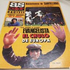 Coleccionismo deportivo: REVISTA AS COLOR, EVANGELISTA EL CHULO DE EUROPA, N°398, ENERO 1979. Lote 133705381