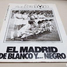 Coleccionismo deportivo: REVISTA DON BALON, EL MADRID DE BLANCO Y NEGRO, N° 432 , ENERO 1984. Lote 133755567