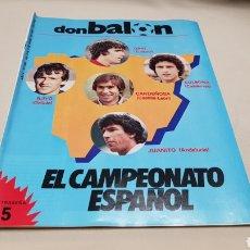 Coleccionismo deportivo: REVISTA DON BALON, EL CAMPEONATO ESPAÑOL, N°430, ENERO 1984. Lote 133756766