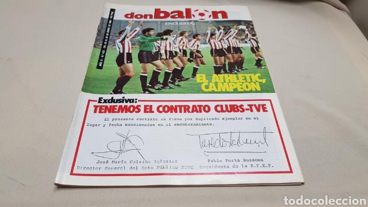 REVISTA DON BALON, TENEMOS EL CONTRATO CLUBS-TVE, N°433, ENERO 1984 (Coleccionismo Deportivo - Revistas y Periódicos - Don Balón)
