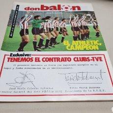 Coleccionismo deportivo: REVISTA DON BALON, TENEMOS EL CONTRATO CLUBS-TVE, N°433, ENERO 1984. Lote 133758298