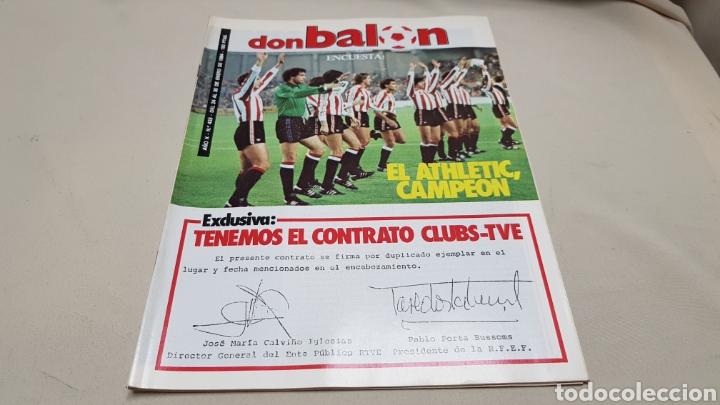 Coleccionismo deportivo: Revista don balon, tenemos el contrato clubs-tve, n°433, enero 1984 - Foto 2 - 133758298