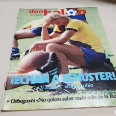Coleccionismo deportivo: REVISTA DON BALON, ECHAN A SCHUSTER, N°380, ENERO 1983. Lote 133763158