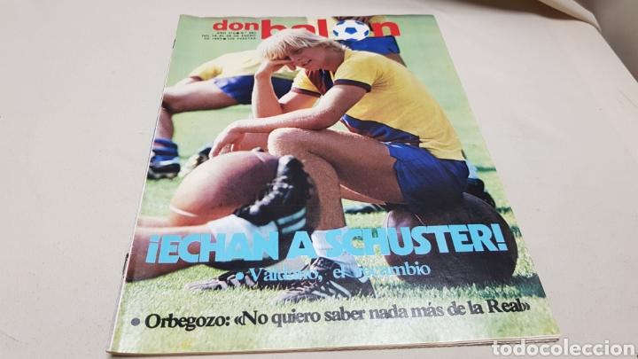 Coleccionismo deportivo: Revista don balon, echan a schuster, n°380, enero 1983 - Foto 2 - 133763158