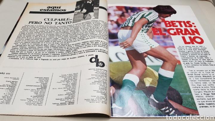 Coleccionismo deportivo: Revista don balon, echan a schuster, n°380, enero 1983 - Foto 3 - 133763158