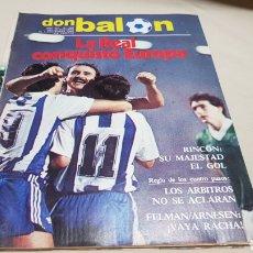 Coleccionismo deportivo: REVISTA DON BALON, LA REAL CONQUISTÓ EUROPA, N° 368, OCTUBRE 1982,. Lote 133764238