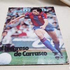 Coleccionismo deportivo: REVISTA DON BALON, EL REGRESO DE CARRASCO, N° 419, OCTUBRE 1983. Lote 133765351