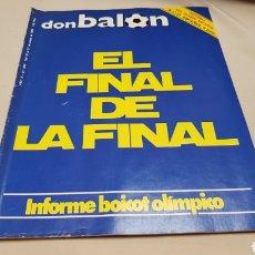 Coleccionismo deportivo: REVISTA DON BALON, EL FINAL DE LA FINAL, N° 449, MAYO 1984. Lote 133765542