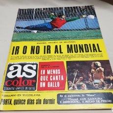 Coleccionismo deportivo: REVISTA AS COLOR, IR O NO IR AL MUNDIAL , N° 341 , NOVIEMBRE 1977.. Lote 133852373