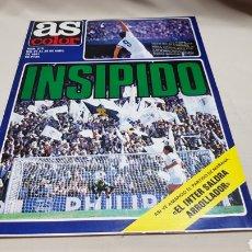 Coleccionismo deportivo: REVISTA AS COLOR, INSIPIDO ,N° 518 ABRIL 1981 , POSTER REAL ZARAGOZA. Lote 133854929