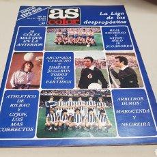 Coleccionismo deportivo: REVISTA AS COLOR, LA LIGA DE LOS DESPROPOSITOS, N° 520, MAYO 1981, POSTER DE LA REAL SOCIEDAD. Lote 133855758