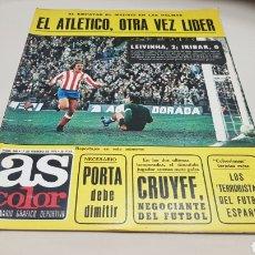 Coleccionismo deportivo: REVISTA AS COLOR, EL ATLETICO, OTRA VEZ LIDER , N° 248 FEBRERO 1976 , POSTER REAL SPORTING DE GIJON. Lote 133899162