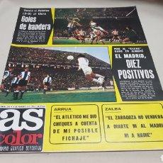 Coleccionismo deportivo: REVISTA AS COLOR, GOLES DE BANDERA, N°246, FEBRERO 1976 , PÓSTER DEL CLUB REAL MURCIA. Lote 133900854