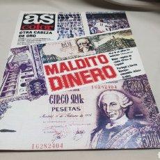 Coleccionismo deportivo: REVISTA AS COLOR, MALDITO DINERO, N° 497 DICIEMBRE 1980, PÓSTER DEL ESPAÑOL C.F. Lote 133963687