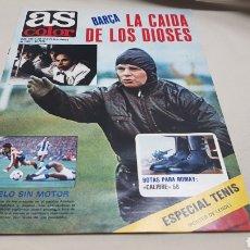 Coleccionismo deportivo: REVISTA AS COLOR, BARÇA LA CAIDA DE LOS DIOSES, N ° 496, NOVIEMBRE 1980 , POSTER DE TENISTA LENDL. Lote 133964130