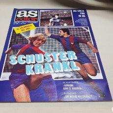 Coleccionismo deportivo: REVISTA AS COLOR, SCHUSTER KRANKL, N°495, NOVIEMBRE 1980, POSTER DEL F.C. BARCELONA. Lote 191679018