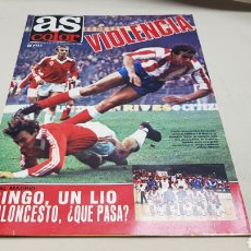 Coleccionismo deportivo: REVISTA AS COLOR, VIOLENCIA, N° 494, NOVIEMBRE 1980, POSTER , C.A. OSASUNA. Lote 133964835