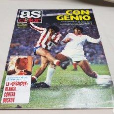 Coleccionismo deportivo: REVISTA AS COLOR, CON GENIO, N° 492, OCTUBRE 1980, POSTER DEL REAL SPORTING DE GIJON. Lote 133965187