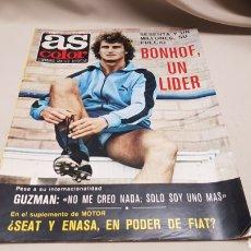Coleccionismo deportivo: REVISTA AS COLOR, BONHOF UN LIDER, N° 377, AGOSTO 1978, POSTER DE KROL. Lote 133966119