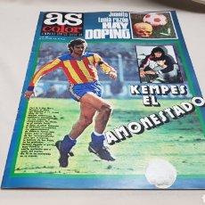 Coleccionismo deportivo: REVISTA AS COLOR, JUANITO TENIA RAZON HAY DOPING, N° 396, DICIEMBRE 1978. Lote 133969091