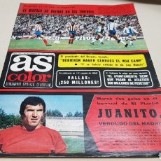 Coleccionismo deportivo: REVISTA AS COLOR, JUANITO VERDUGO DEL MADRID, N°301 FEBRERO 1977, POSTER DEL REAL JAEN. Lote 133971418