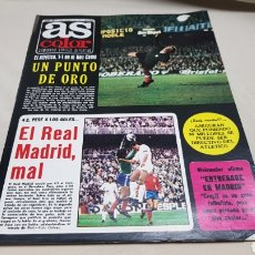 Coleccionismo deportivo: REVISTA AS COLOR, REAL MADRID MAL, N° 302, MARZO 1977, POSTER DEL REAL OVIEDO. Lote 133971705