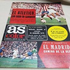 Coleccionismo deportivo: REVISTA AS COLOR, EL ATLETICO CON PASO DE CAMPEON, N ° 303, MARZO 1977, POSTER DEL REAL VALLADOLID. Lote 133972018