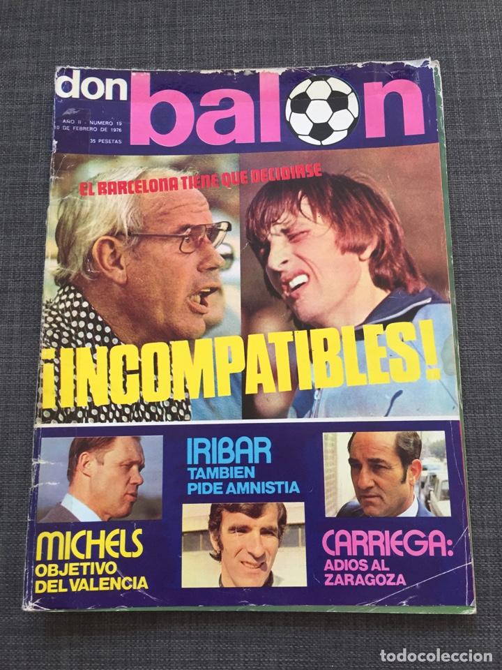 DON BALON 19 - BARCELONA - PÓSTER REZZA - SALAMANCA - ROJO - CRUYFF (Coleccionismo Deportivo - Revistas y Periódicos - Don Balón)