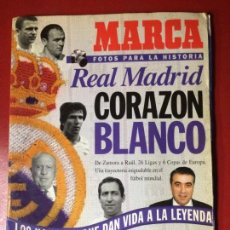 Coleccionismo deportivo: FOTOS PARA LA HISTORIA REAL MADRID CORAZON BLANCO -MARCA-. Lote 134370766