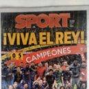 Coleccionismo deportivo: SPORT: F.C.BARCELONA CAMPEÓN DE LA COPA DEL REY 2018. Lote 134473194