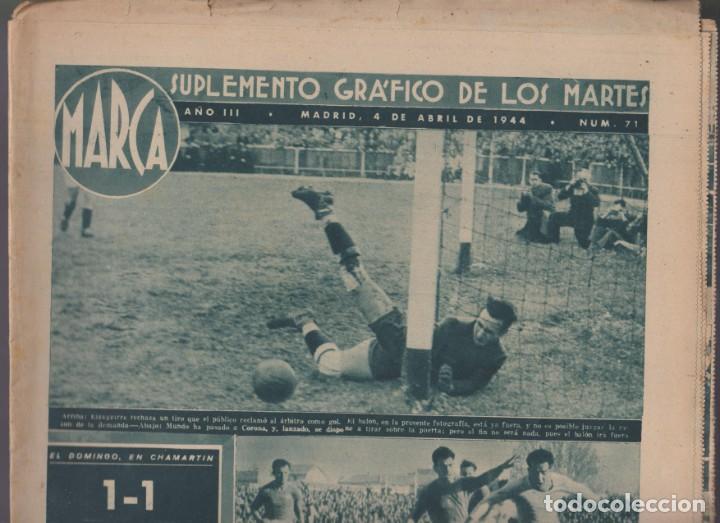 Coleccionismo deportivo: MARCA -- SUPLEMENTO GRÁFICO DE LOS MARTES -- Nº 71 --04/04/44 - Foto 2 - 134821006
