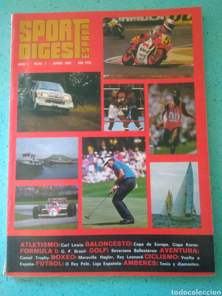 REVISTA SPORT DIGEST ESPAÑA AÑO I NUM 1.JUNIO 1987 .VER FOTOS (Coleccionismo Deportivo - Revistas y Periódicos - Sport)