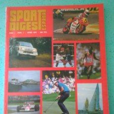 Coleccionismo deportivo: REVISTA SPORT DIGEST ESPAÑA AÑO I NUM 1.JUNIO 1987 .VER FOTOS. Lote 135324577